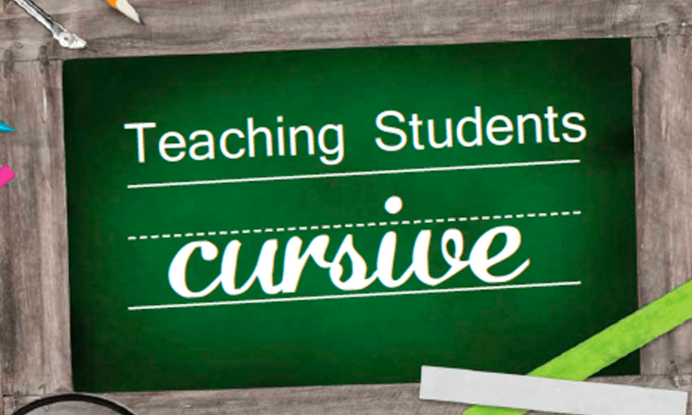 Teaching Cursive to Students 1