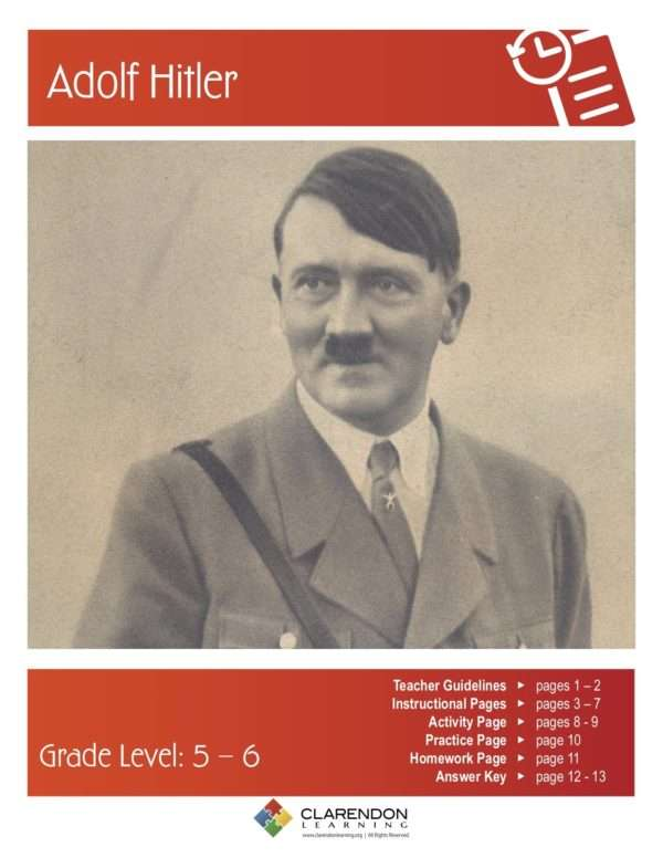 Adolf Hitler Lesson Plan