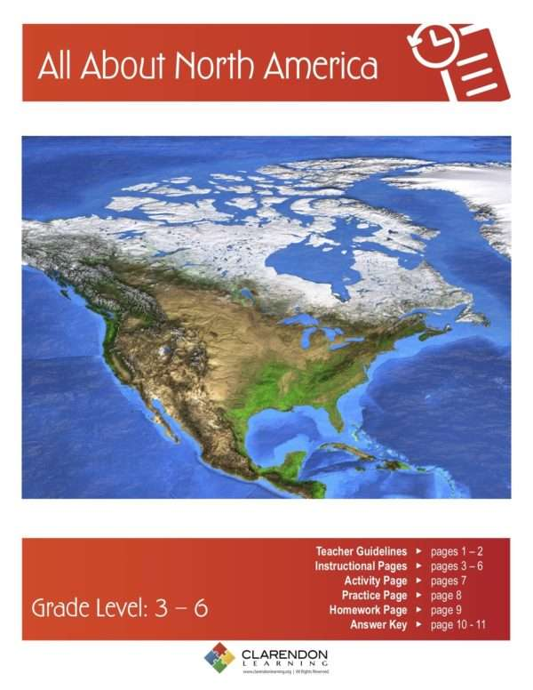 All About North America Lesson Plan