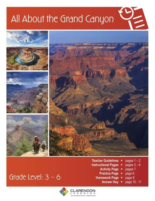 All About the Grand Canyon Lesson Plan