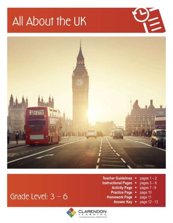 All About the UK Lesson Plan
