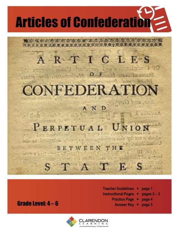 Articles of Confederation Lesson Plan