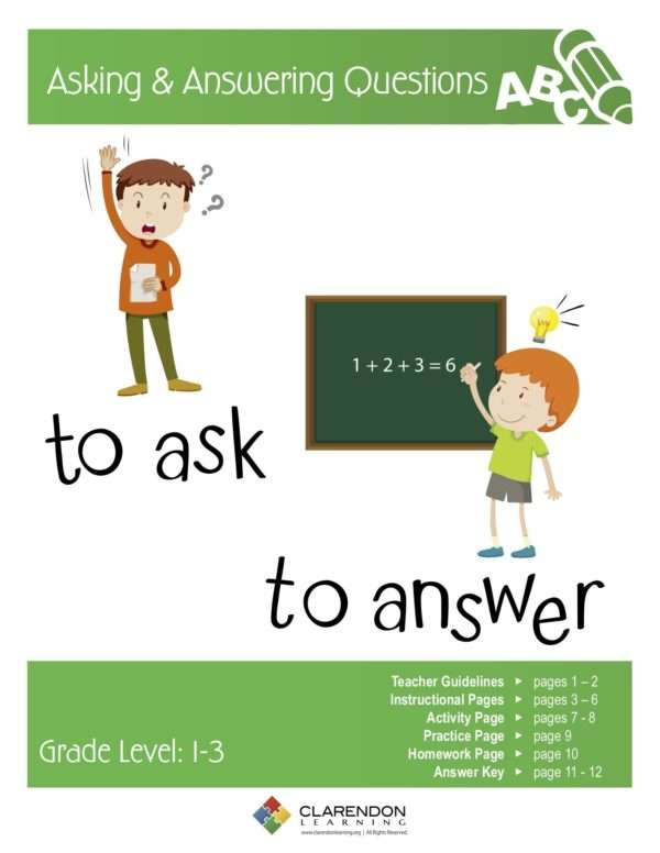 Asking & Answering Questions Lesson Plan