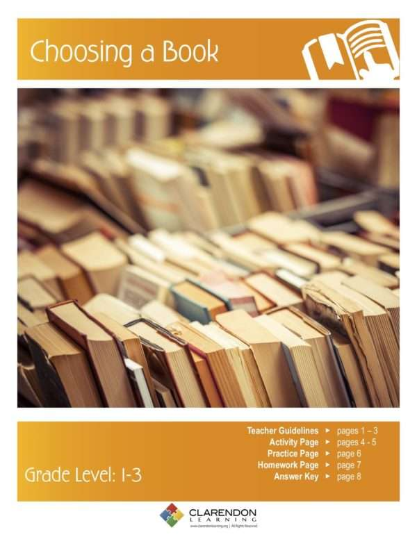 Choosing a Book Lesson Plan