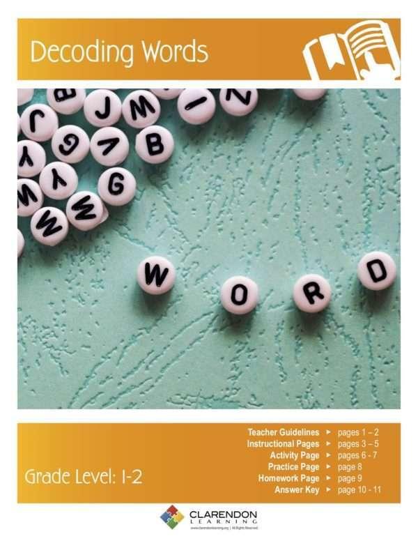 Decoding Words Lesson Plan