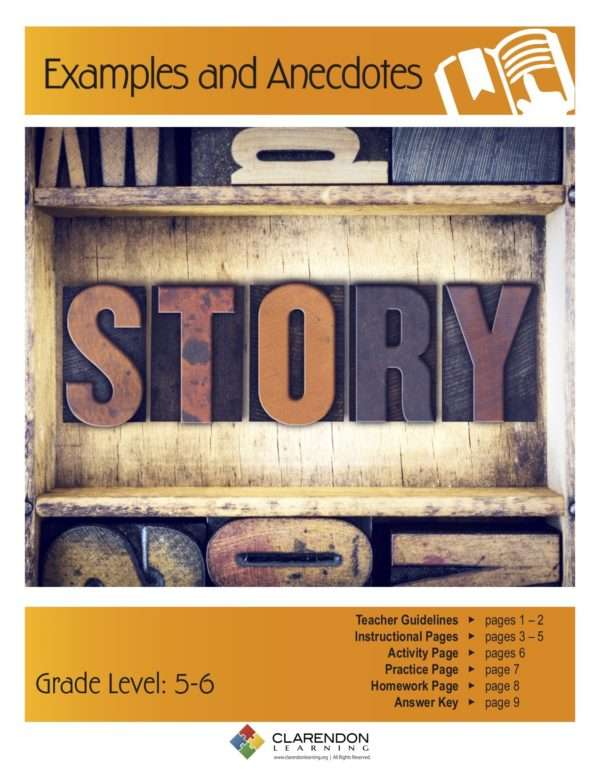 Examples and Anecdotes Lesson Plan