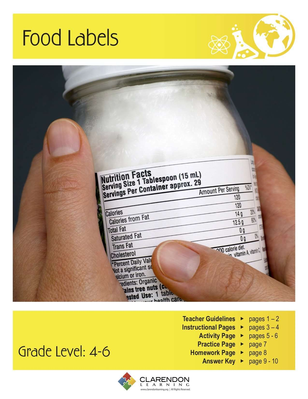 Food Labels Lesson Plan Clarendon Learning [ 1650 x 1275 Pixel ]
