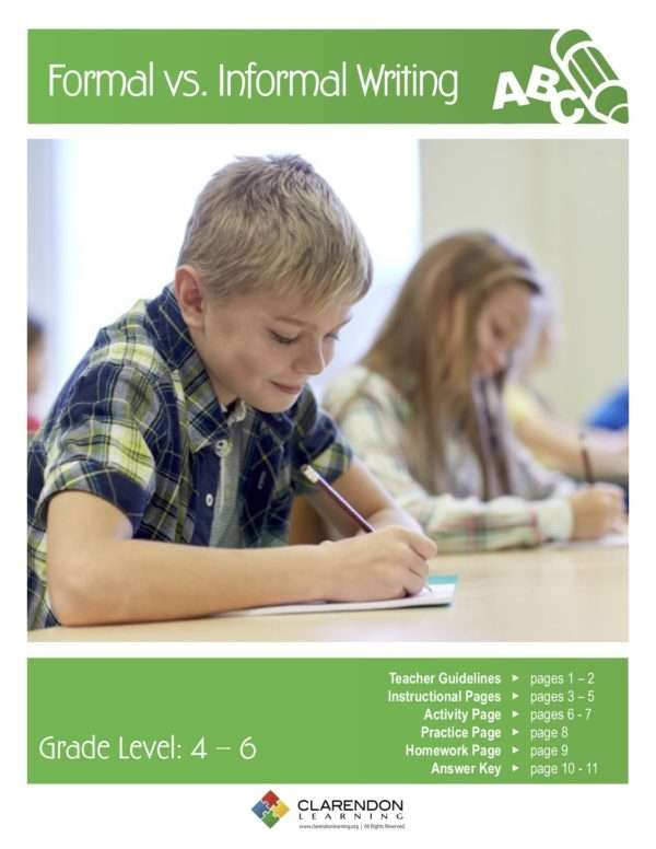 Formal vs. Informal Writing Lesson Plan