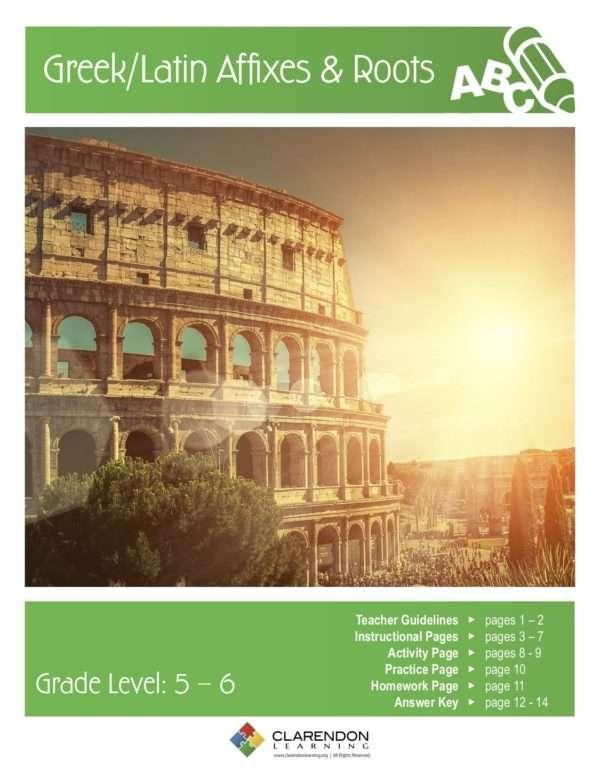 Greek/Latin Affixes & Roots Lesson Plan