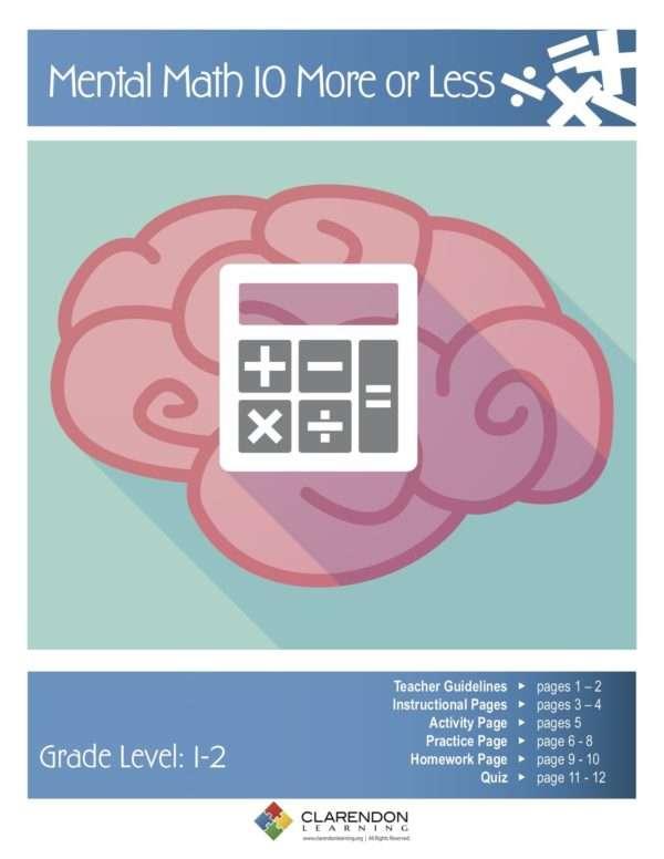 Mental Math 10 More or Less Lesson Plan