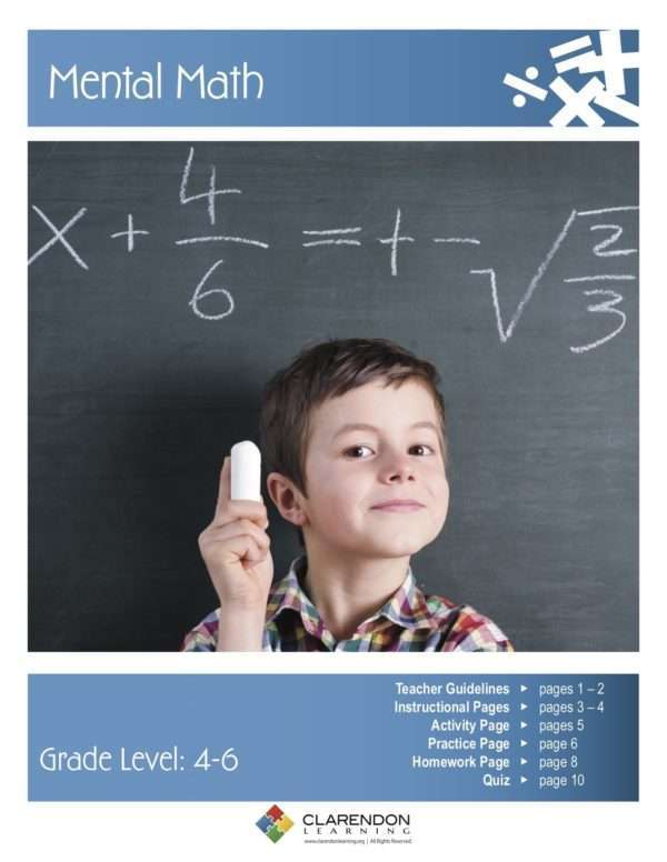Mental Math Lesson Plan