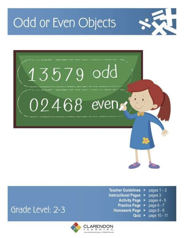 Odd or Even Objects Lesson Plan