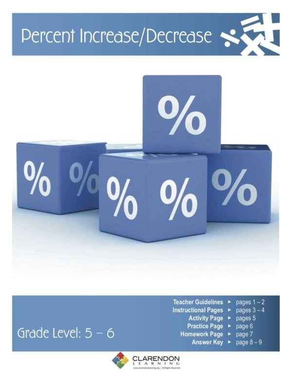 Percent Increase/Decrease Lesson Plan
