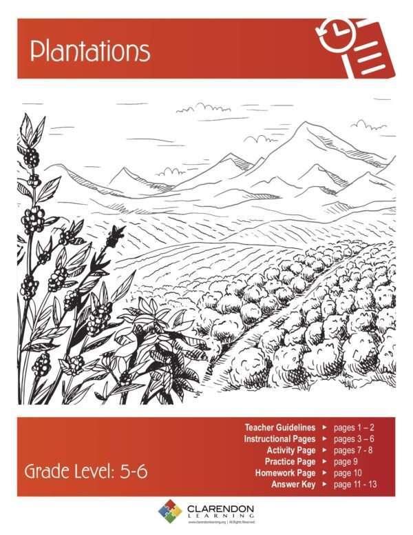 Plantations Lesson Plan
