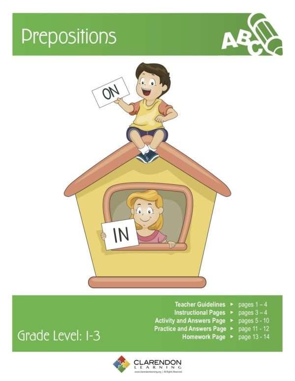Prepositions (Grades 1-3) Lesson Plan