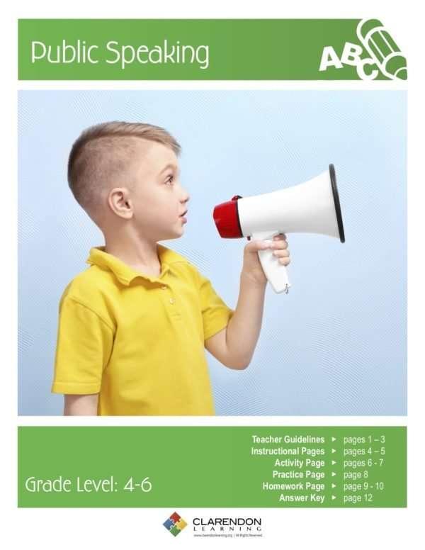 Public Speaking Lesson Plan