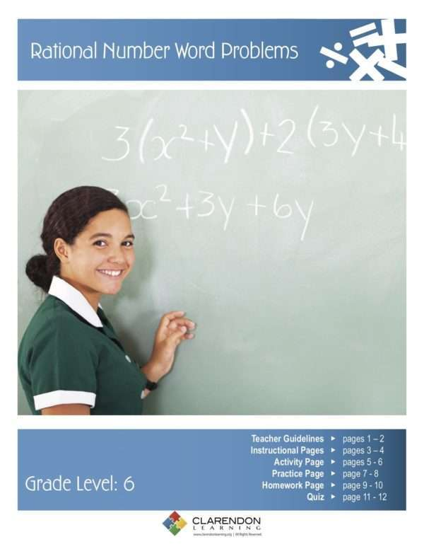 Rational Number Word Problems Lesson Plan