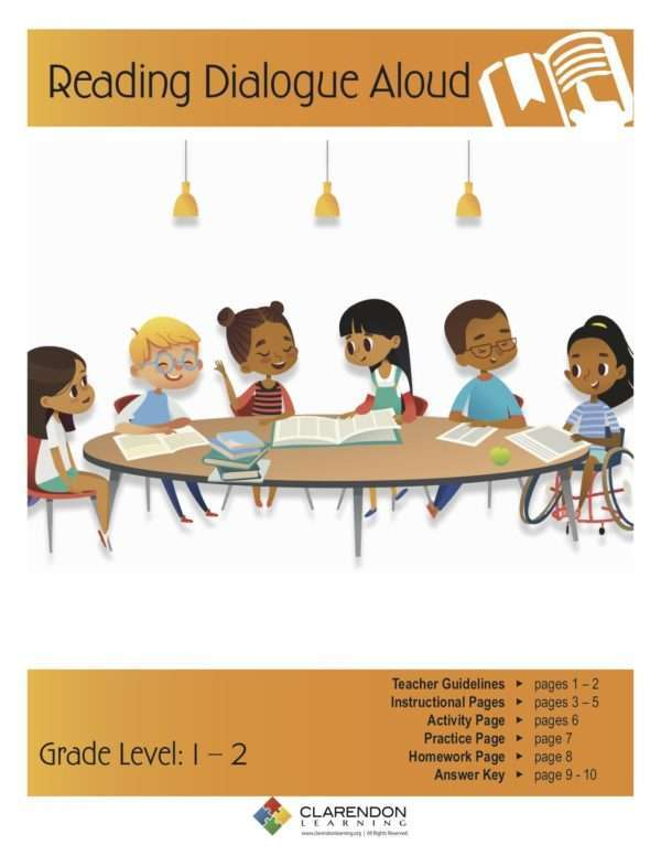 Reading Dialogue Aloud Lesson Plan