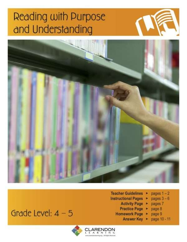 Reading with Purpose and Understanding Lesson Plan