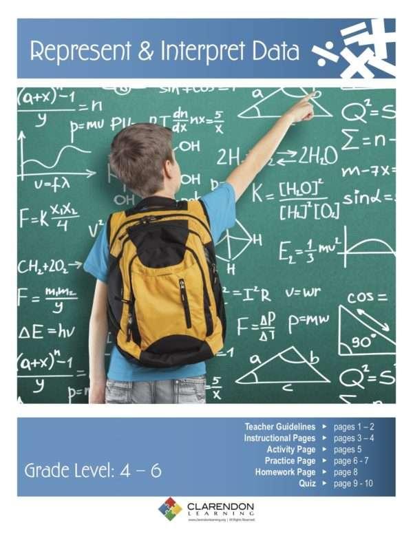 Represent and Interpret Data (Grades 4-6) Lesson Plan