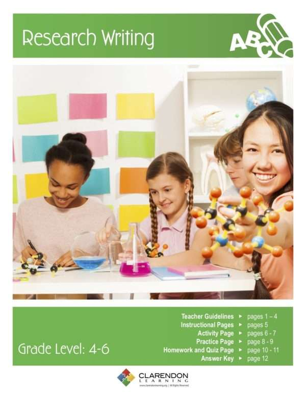 Research Writing (Grades 4-6) Lesson Plan