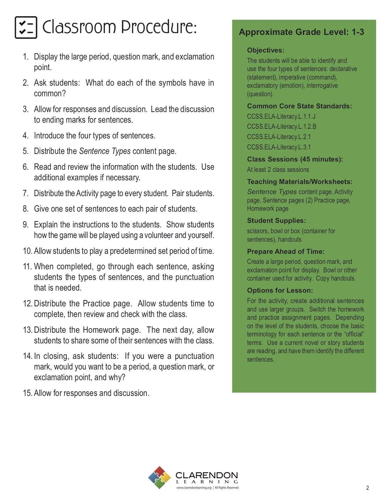 Diagramming Sentences Lesson Plans And Lesson Ideas Manual Guide