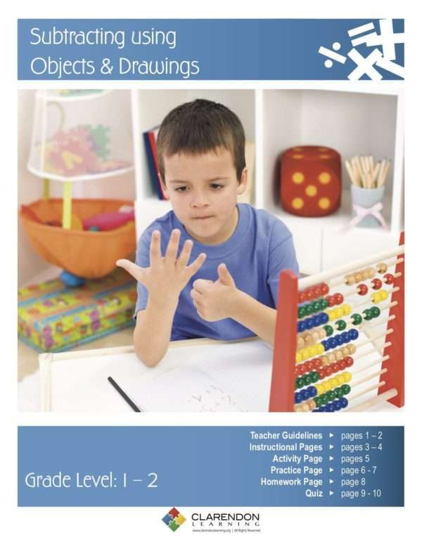 Subtracting using Objects & Drawings Lesson Plan