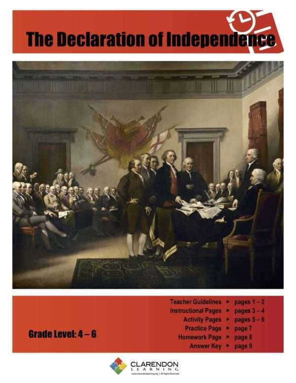 The Declaration of Independence Lesson Plan