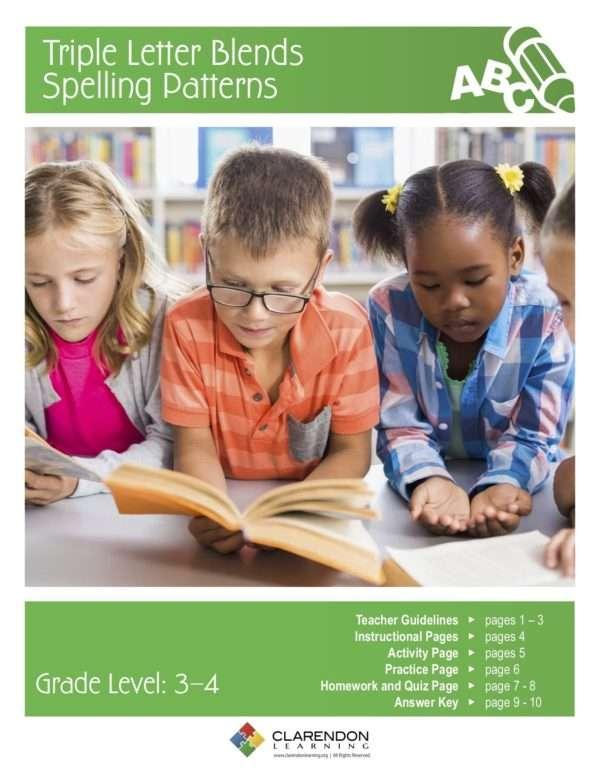 Triple Letter Blends Spelling Patterns Lesson Plan