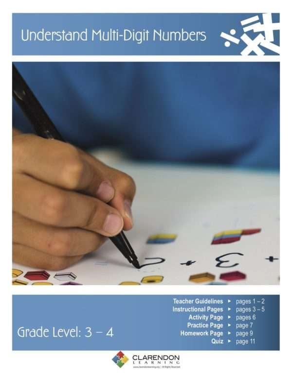 Understand Multi-Digit Numbers Lesson Plan