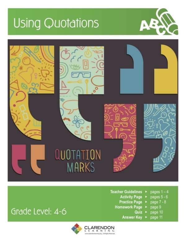 Using Quotations Lesson Plan