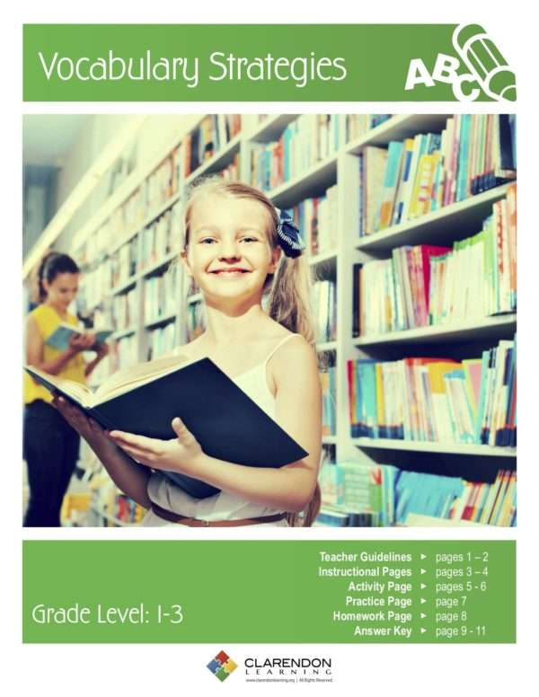 Vocabulary Strategies Lesson Plan
