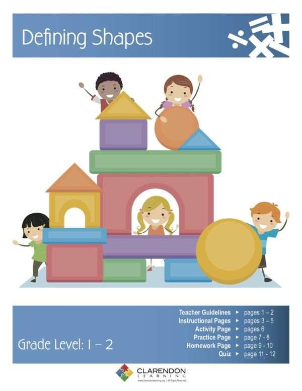 Defining Shapes Lesson Plan