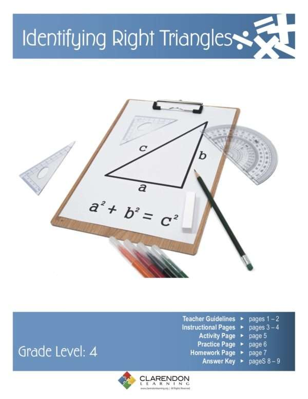 Identifying Right Triangles Lesson Plan