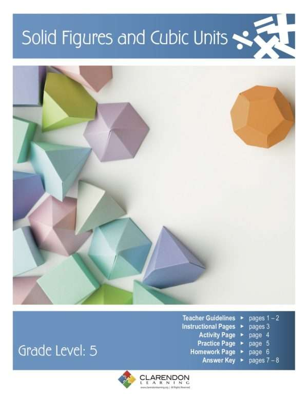 Solid Figures and Cubic Units Lesson Plan