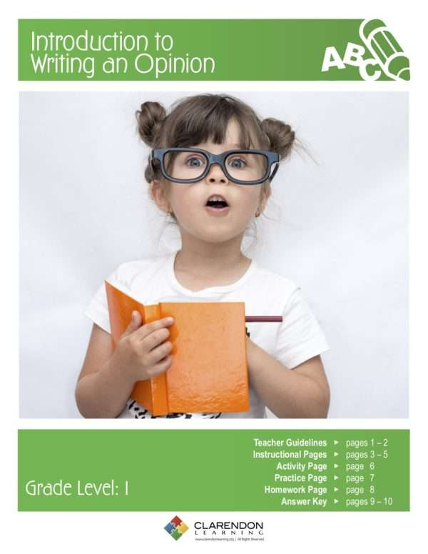 Introduction to Writing an Opinion Lesson Plan
