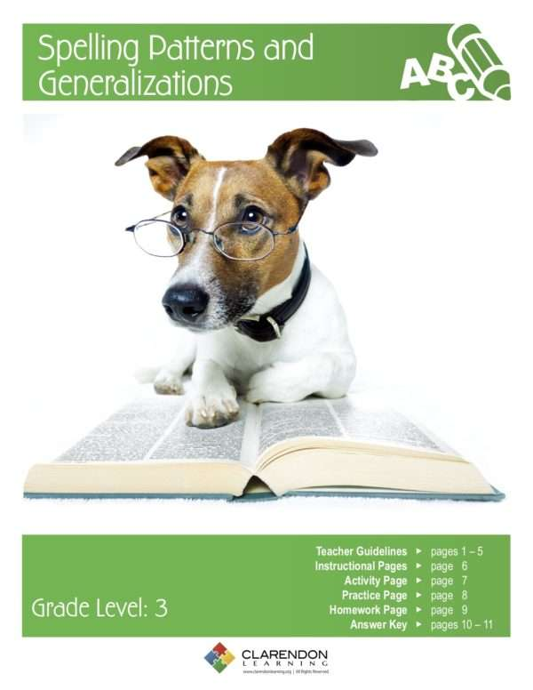 Spelling Patterns and Generalizations Lesson Plan