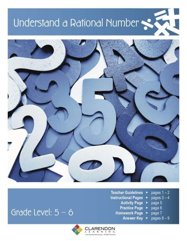 Understand a Rational Number Lesson Plan