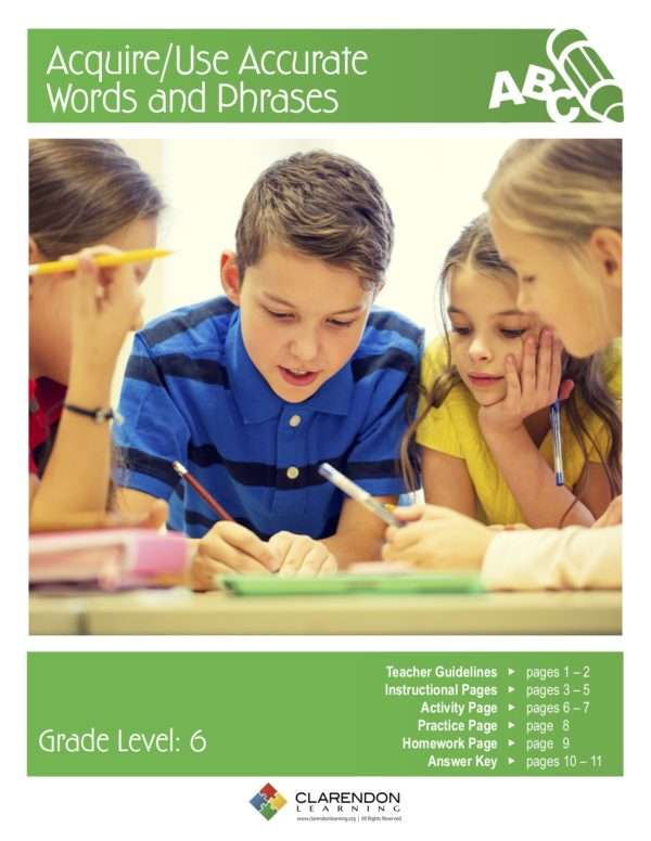 Acquire:Use Accurate Words and Phrases Lesson Plan