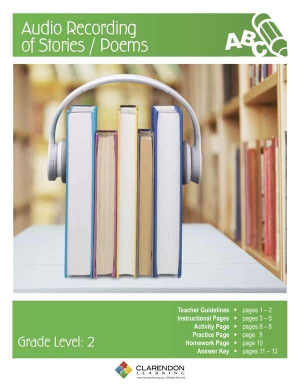 Audio Recording of Stories:Poems Lesson Plan