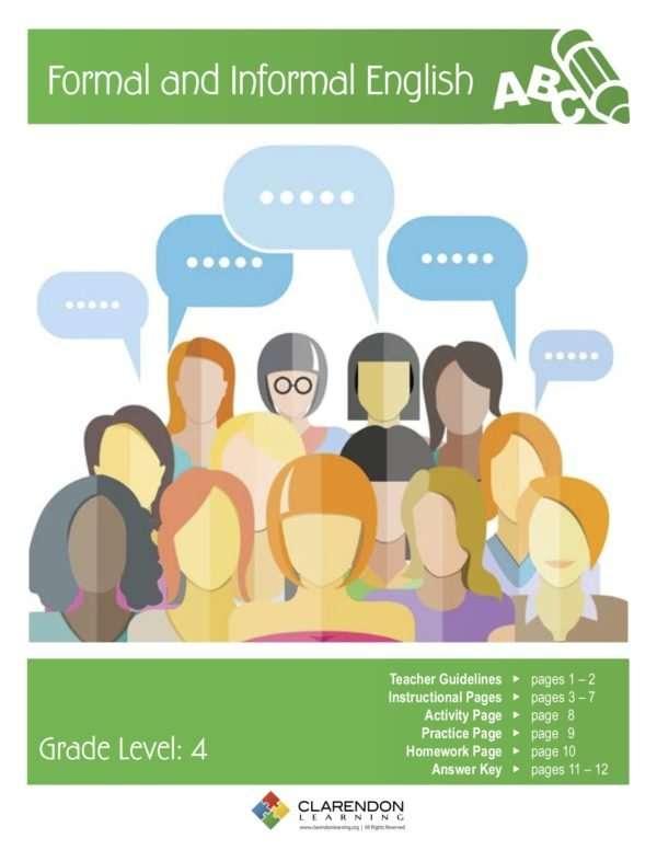 Formal and Informal English Lesson Plan