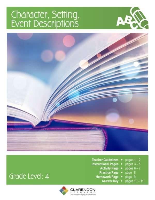 Character, Setting, Event Descriptions Lesson Plan