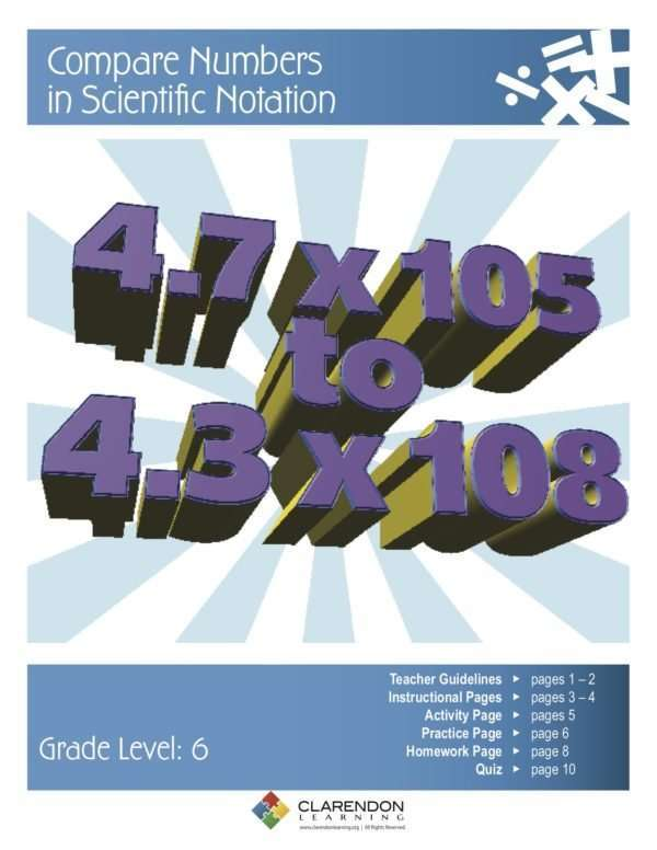 Compare Numbers in Scientific Notation Lesson Plan