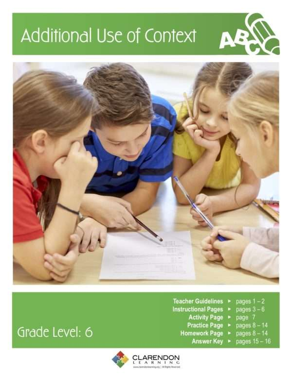 Additional Use of Context Lesson Plan