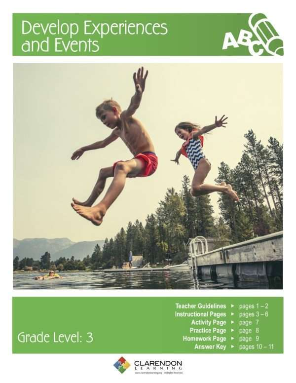 Develop Experiences and Events Lesson Plan
