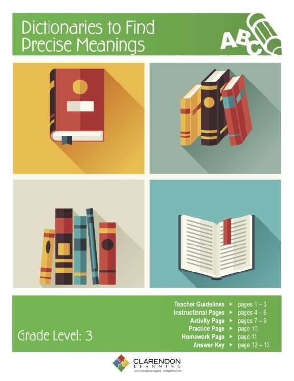 Dictionaries to Find Precise Meanings Lesson Plan