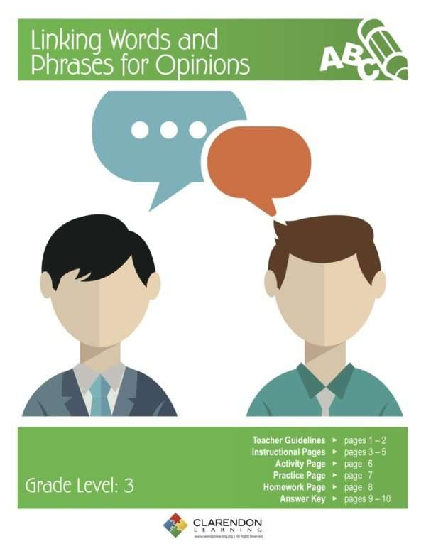 Linking Words and Phrases for Opinions Lesson Plan
