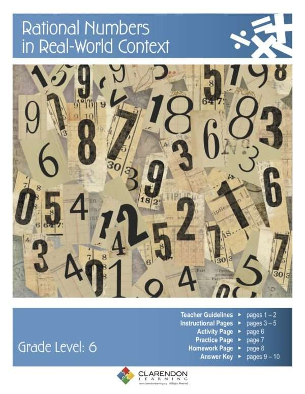Rational Numbers in Real World Context Lesson Plan