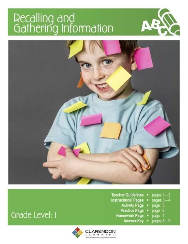 Recalling and Gathering Information Lesson Plan