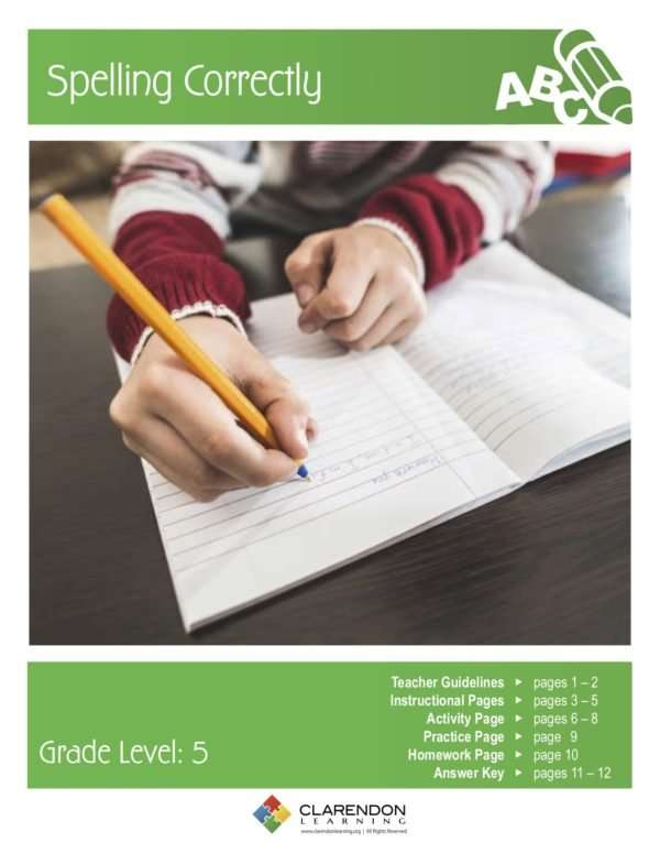 Spelling Correctly Lesson Plan